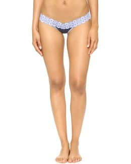 Heather Jersey Low Rise Thong