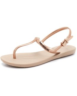 Freedom T Strap Sandals