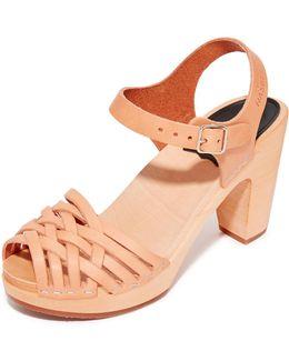 Braided Sky High Sandals