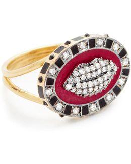 Glam Lip Enamel Ring