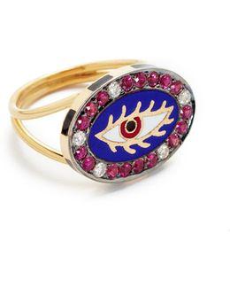 Americana Blue Eye Ring