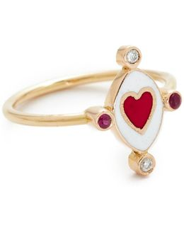 Go Lightly Heart Ring With Rubies