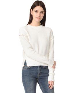 Detachable Sleeve Pullover