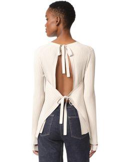 Back Tie Sweater