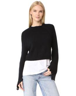 Cropped Ruffle Sweater