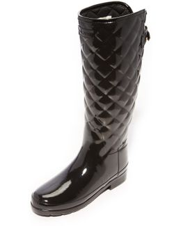 Refined Quilted Tall Boots