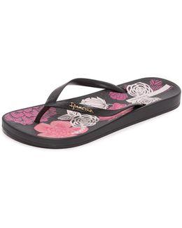 Ana Bloom Flip Flops