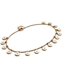 Diamond Confetti Disc Anklet