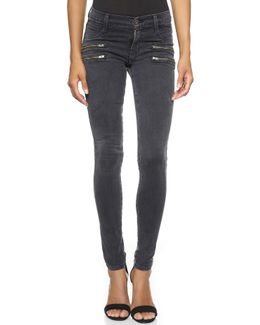 Twiggy Crux Double Front Zip Skinny Jeans