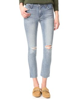 Mid Rise Ankle Length Ciggy Jeans