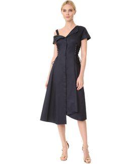 Asymmetrical Lace Up Dress