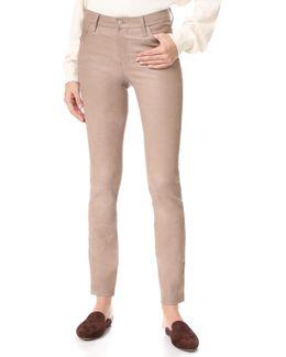 Maude Mid Rise Cigarette Leather Pants