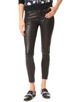 High Rise Alana Crop Leather Pants
