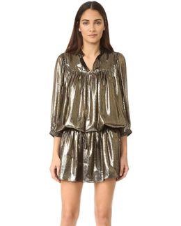 Metallic Drop Waist Dress