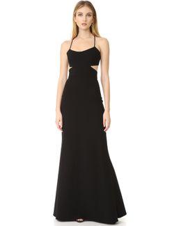 Sleeveless Cutout Gown