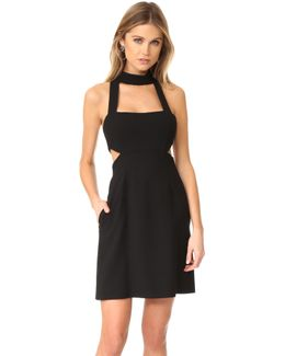 Halter Cutout Mini Dress