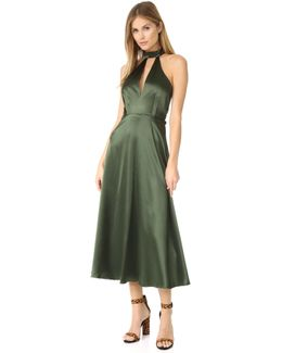 Choker Neck Plunge Gown