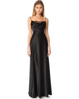 Lace Inset Gown