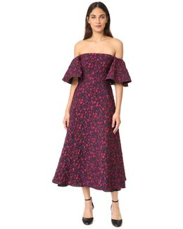 Off The Shoulder Jacquard Gown