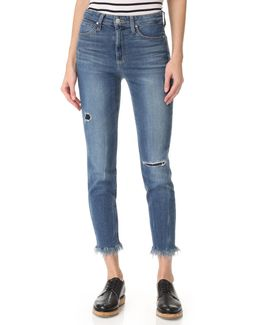 Charlie High Rise Crop Jeans