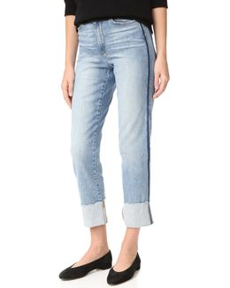 Debbie High Rise Straight Ankle Jeans