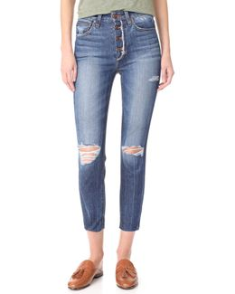 Charlie High Rise Skinny Crop Jeans