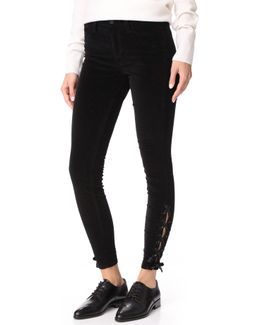 The Velvet Icon Ankle Skinny Jeans
