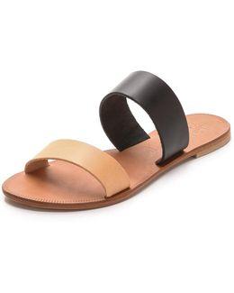 A La Plage Sable Two Band Sandals