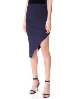 Signature Knit Asymmetrical Skirt