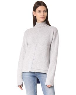 Roll Neck Double Face Sweater