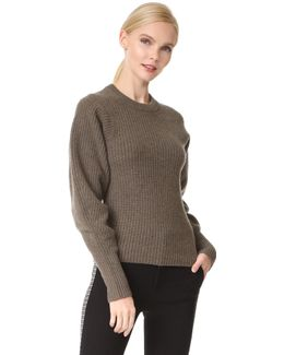 Round Neck Large Sleeves Sweater