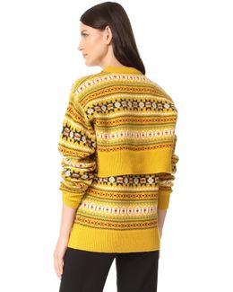 Round Neck Double Sweater