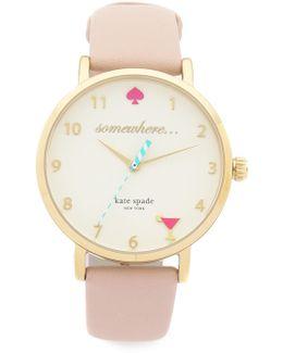 5 O'clock Metro Leather Watch