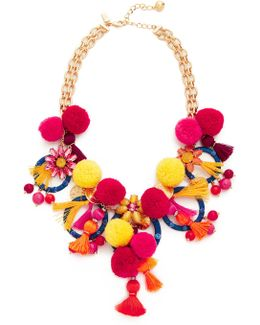 Pretty Poms Statement Necklace