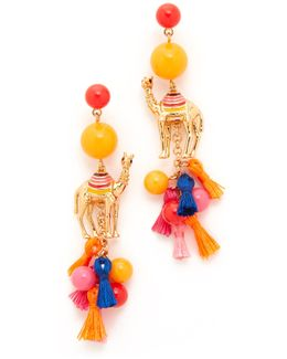 Spice Things Up Camel Statement Earrings