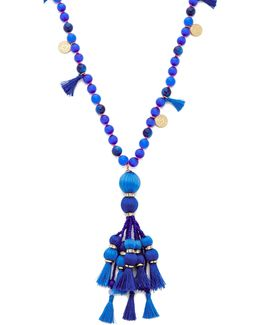 Pretty Poms Tassel Pendant Necklace