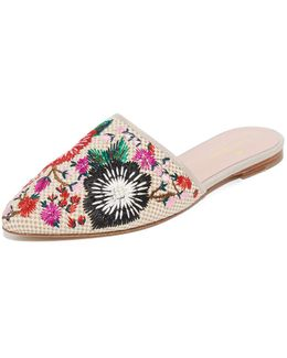 Monteclaire Embroidered Mules