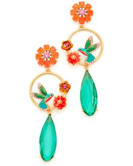 Hummingbird Statement Earrings