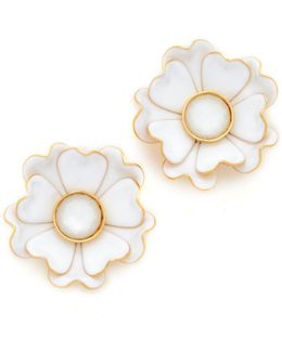 Bright Blossom Flower Stud Earrings