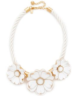 Bright Blossom Flower Statement Necklace