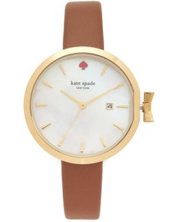 Park Row Leather Watch