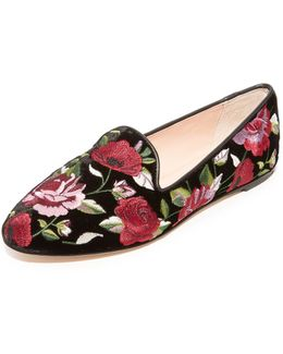 Swinton Floral Slip On Flats