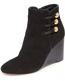 Geraldine Wedge Booties