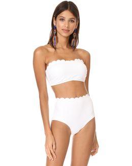 Scalloped Bandeau Bikini Top