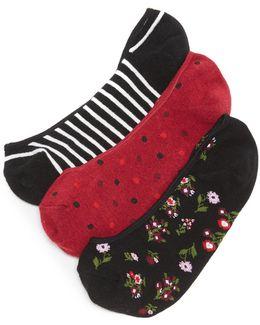 Bloom Floral 3 Pack Sock Set