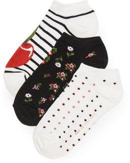 Cherry 3 Pack Sock Set