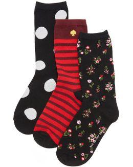 In Bloom Floral 3 Pack Sock Set