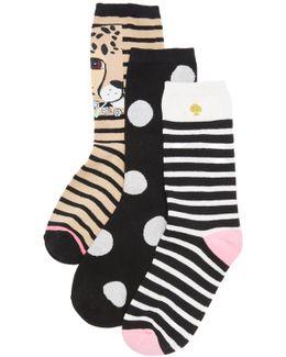 Cheetah 3 Pack Sock Set