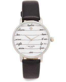 Chalkboard Leather Watch
