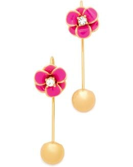 Shine On Flower Hanger Earrings